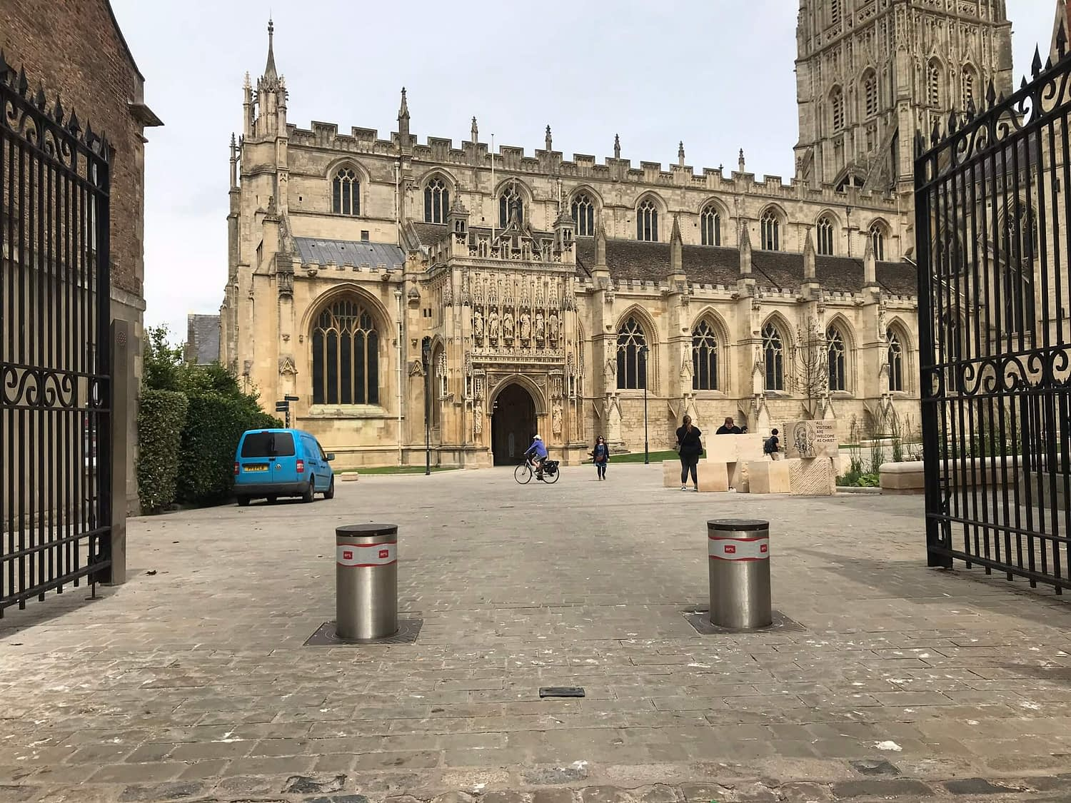 BFT AUTOMATED SECURITY BOLLARDS INSTALLED AT GLOUCESTER CATHEDRAL MAINTAINED BY GATE GUYS