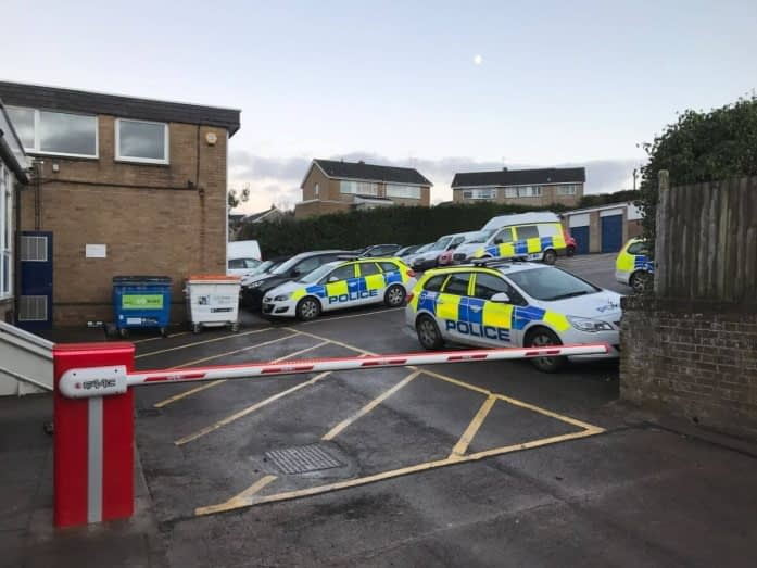 FAAC BARRIER AT COLEFORD POLICE STATION
